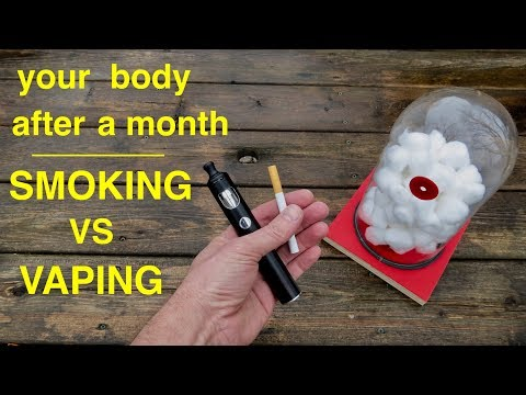 How smoking vs vaping affects your lungs ● you must see this ! !