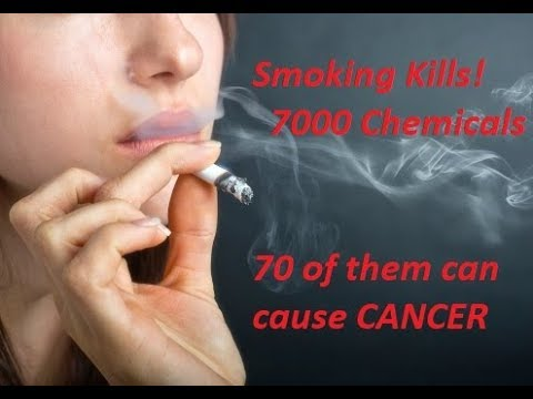 Smoking kills! 7000 chemical compounds in cigarette smoke & 70 of them can cause cancer!