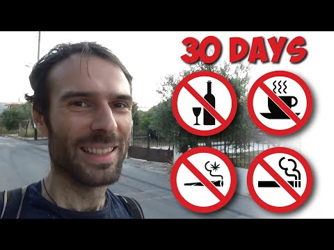 30 days no alcohol/coffee/tobacco/substances -- my experience