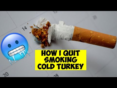 Quitting smoking cold turkey | a success story| almost 10 years smoke free