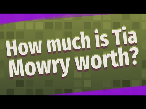 How much is tia mowry worth?