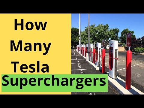 Report shows how many tesla superchargers are in the world