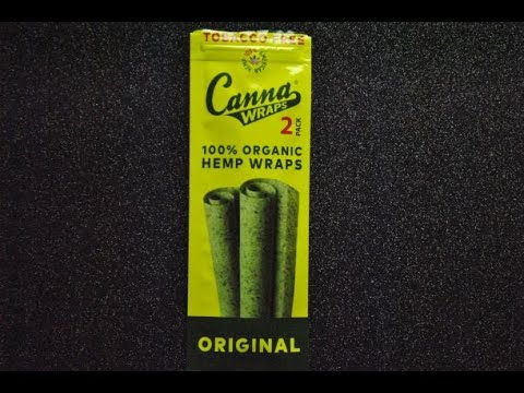 Rolling the perfect blunt with cannawarps 100% organic hemp wraps