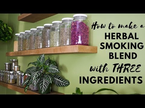 How to make a herbal smoking blend with three ingredients