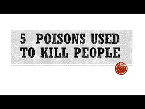 5 poisons used to kill people | 5 deadliest poisons | top 5 poison | dangerious poisons of all time!